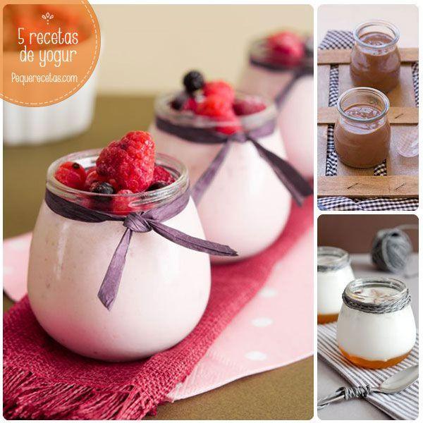 Yogur casero, 5 recetas irresistibles. Os enseñamos a hacer yogur casero: Petit Suisse, yogur de manzana, yogur con miel y nueces, yogur con frutos rojos.