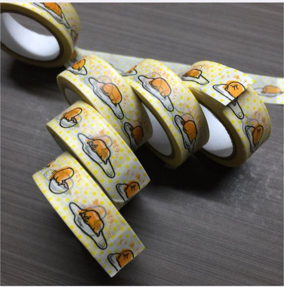 Gudetama Washi Tape 5 metre long, very cute :3 Great for scrapbooking! Free mailing by unregistered small packet mail (no tracking)