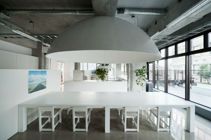 """MR_DESIGN Office / Schemata Architects  """"The cone of ....meetings!"""" You don't need walls to make a room #workspace #changeitup #meetingtable #conferenceroom"""