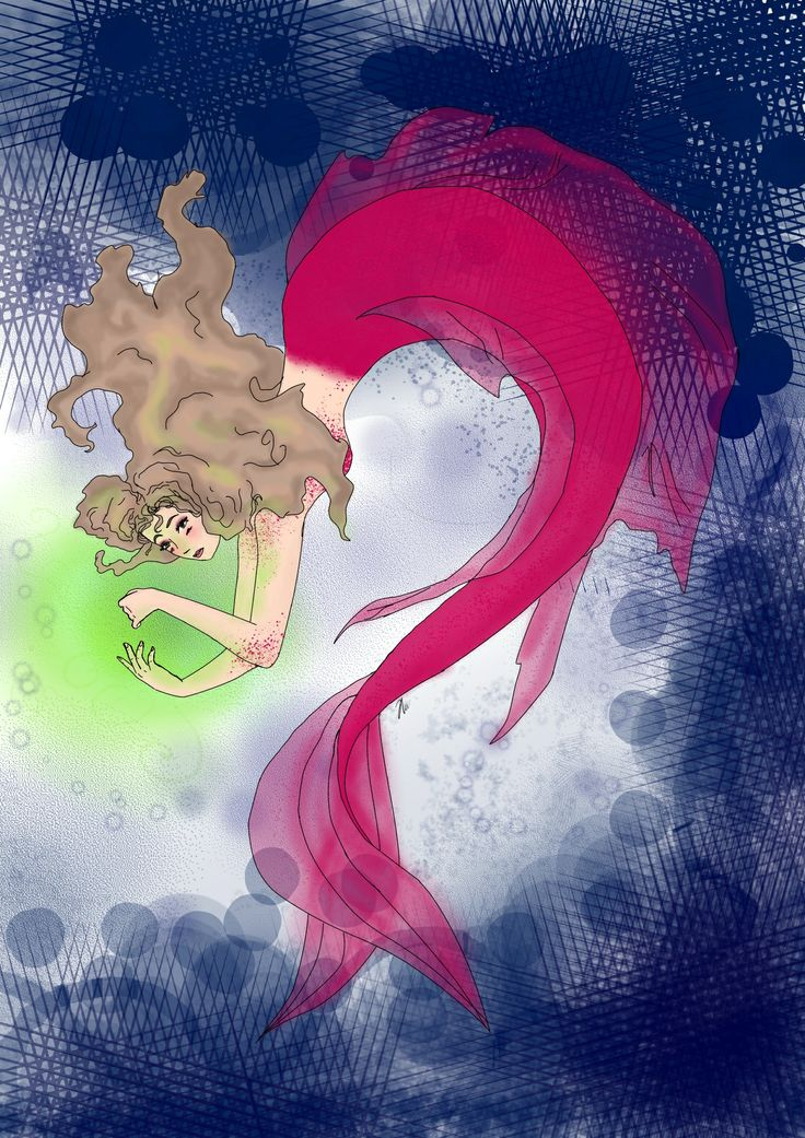 My first drawing with manga tablet, im kind of proud.. haha! mermaid, fantasy made by Helene w