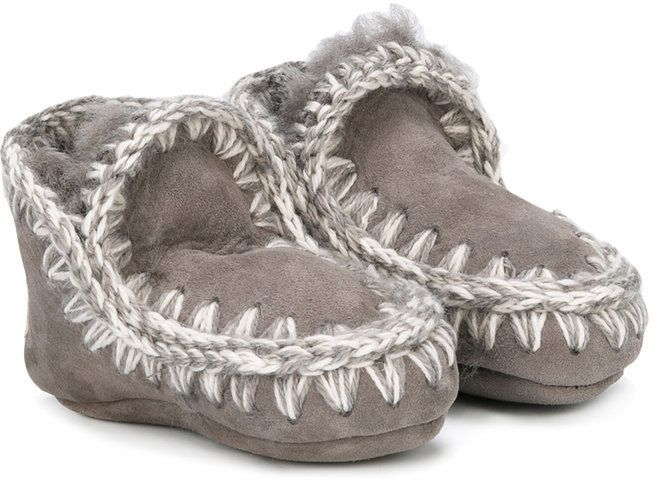 Mou Kids shearling slippers