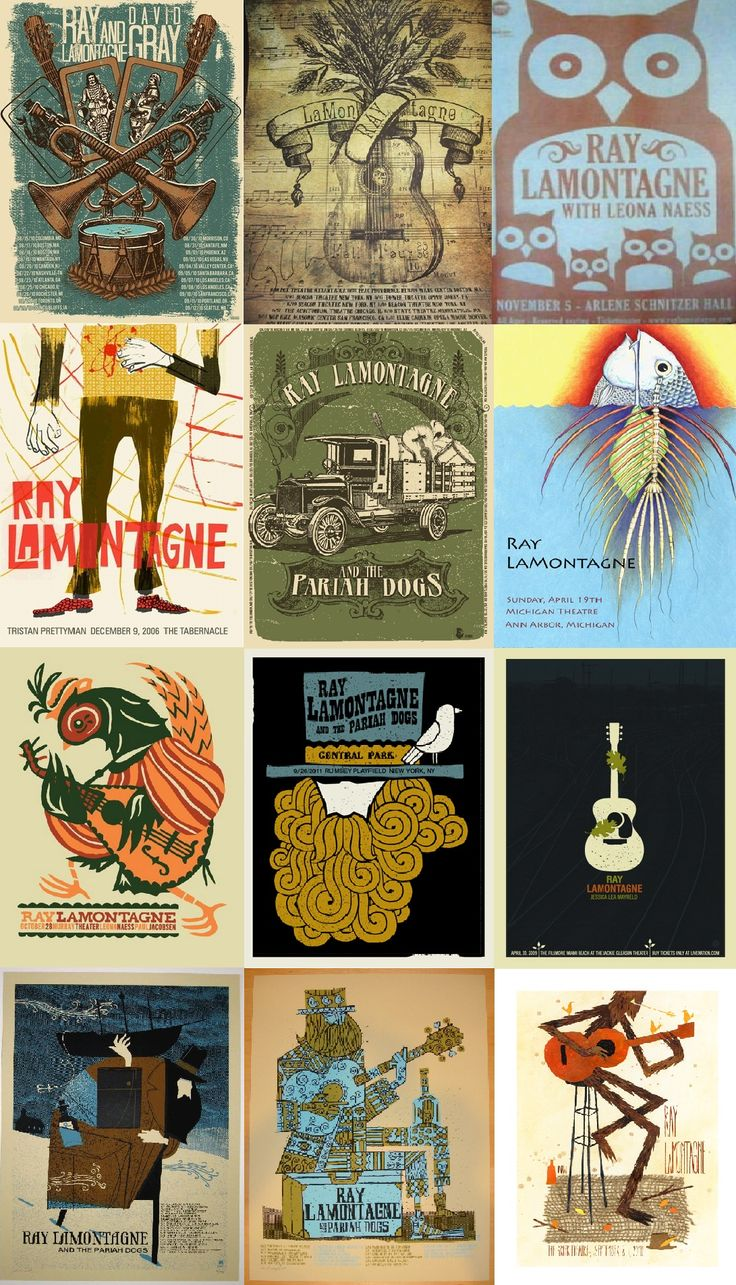 Ray LaMontagne Concert Posters