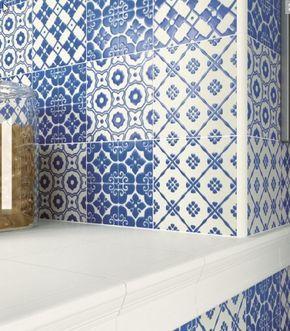 Obklady » rozdělení dle stylu » obklady rustikální/zdobené » DAVITA retro obklady mix dekorů | EDEN koupelny Praha