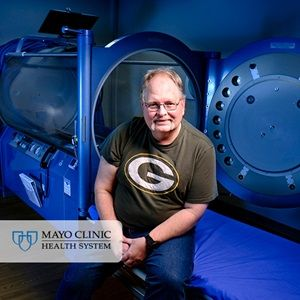 Fritz Kruger of Hayward, Wisconsin, wondered how breathing pure oxygen while enclosed in a pressurized tube could heal his body. Kruger, 56, suffered from side effects of radiation treatments for prostate cancer when referred for hyperbaric oxygen therapy in fall 2016. http://mayocl.in/2u23mp7