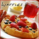 Peanut Butter Belgian Waffles on MyRecipeMagic.com