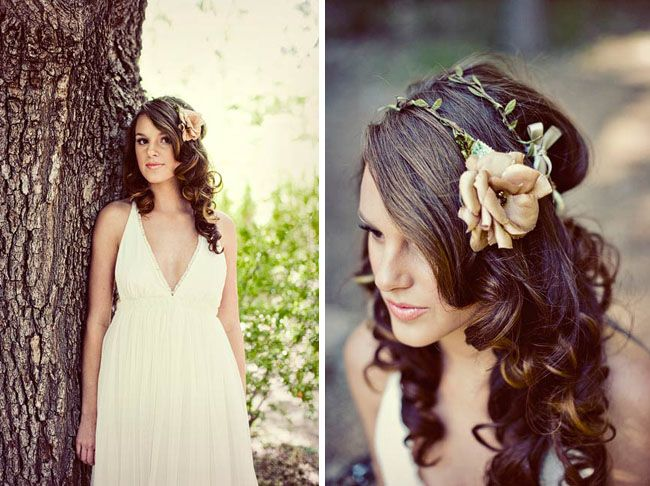 Romantic Woodsy Wedding Fashion I love this hair piece! It'd be perfect for my woodsy MN wedding