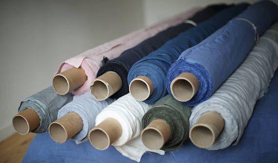 LINNEN stof / natuurlijke geverfd / vooraf gewassen / eco