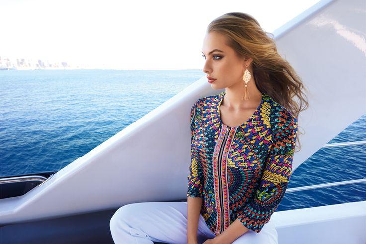 #JosephRibkoff #fashion #trend #style #multicoloured #model #beautiful #JourdanBelfast #cruise #boat #canadian