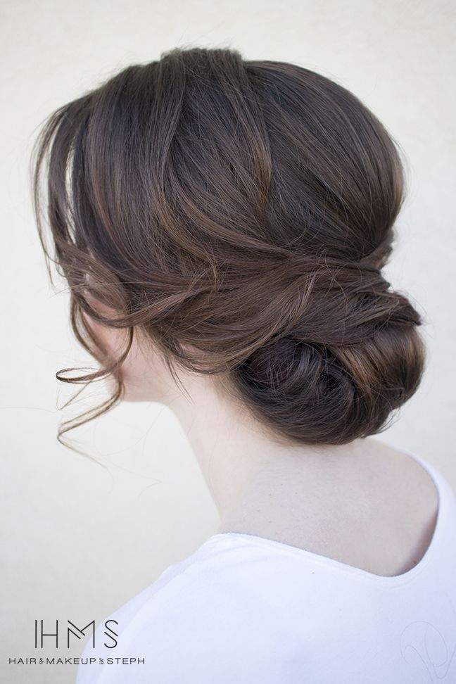 Bridal hairstyle.