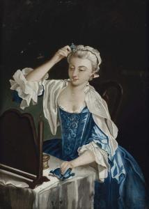 Jean-Baptiste Simeon Chardin -  Jeune Fille A Sa Toilette