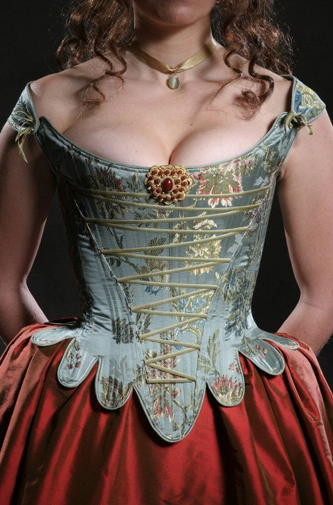 c.1660 Cavalier Restoration Moliere Corset only. $680.00, via Etsy. Period Corsets, by Kaufman-Davis Studio, Inc