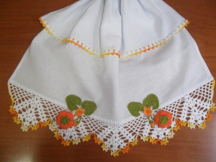 Dicas de Artesanatos Feitos com Pano de Prato e Crochê