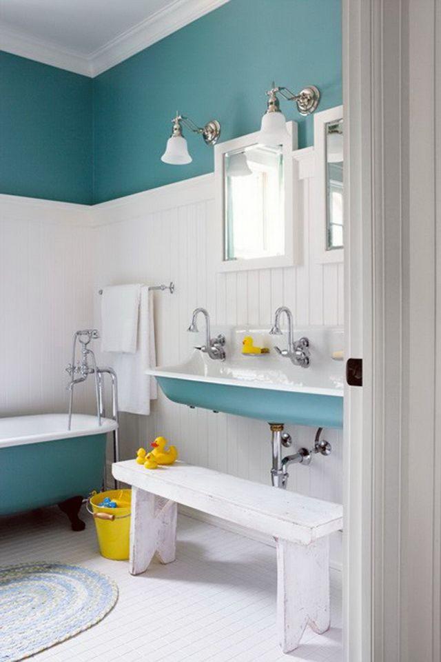 Bathroom, Contemporary Kids Bathroom Masaruru 005: Modern Kids Bathroom Decor Ideas