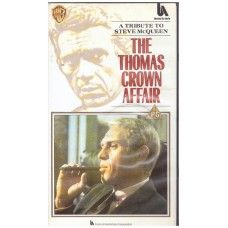 The Thomas Crown Affair VHS from Warner Home Video (PES 99241). 1990 VHS release of the 1968 crime/drama film starring Steve McQueen and Faye Dunaway. Complete in case. Very good condition. £2.00