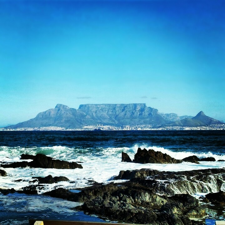 Table mountain in Cape Town taken in blouberg. South Africa
