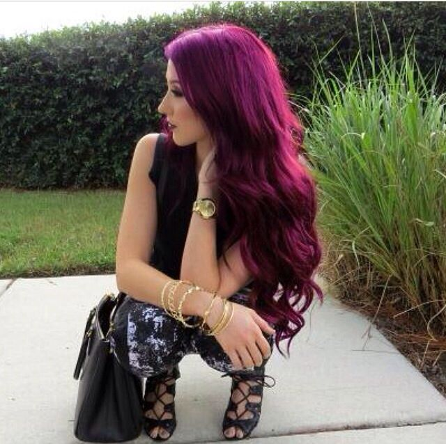 Red Plum Hair Love It Hair Pinterest
