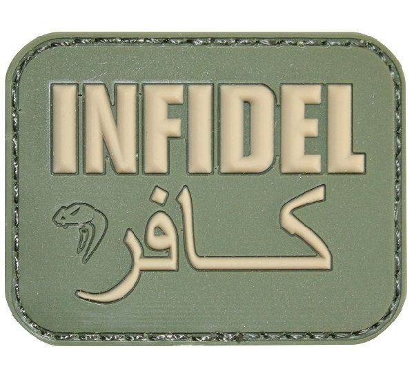 Viper Tactical Infidel Morale Patch is ideal for airsoft and private military workers as a fun clothing item.