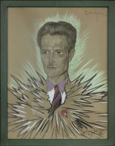 Artwork by Stanislaw Ignacy Witkiewicz, Portrait of stefan glass, Made of pastel, paper