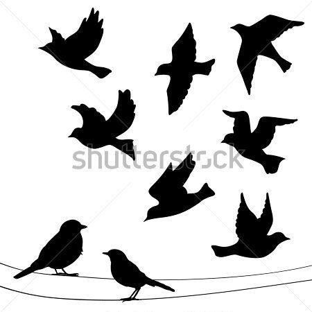 Conjunto DE Siluetas DE Aves Volando, imágenes prediseñadas (clip arts) - ClipartLogo.com