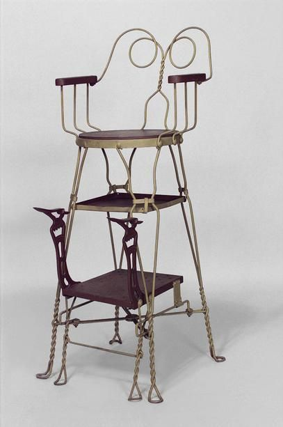 American Victorian painted wire shoe shine chair with scroll back (marked:  ROYAL - 16 Best Shoe Shine Stand Ideas Images On Pinterest Barber Shop