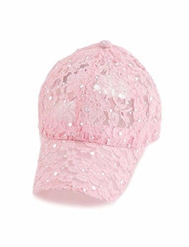 174aa24b774 GBST Women s Lace Glitter Sequin Baseball Hat Cap