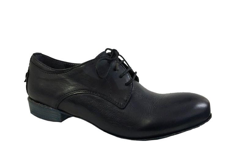 LE RUE MARCEL scarpa donna allacciata blu con elastico interno sotto la…