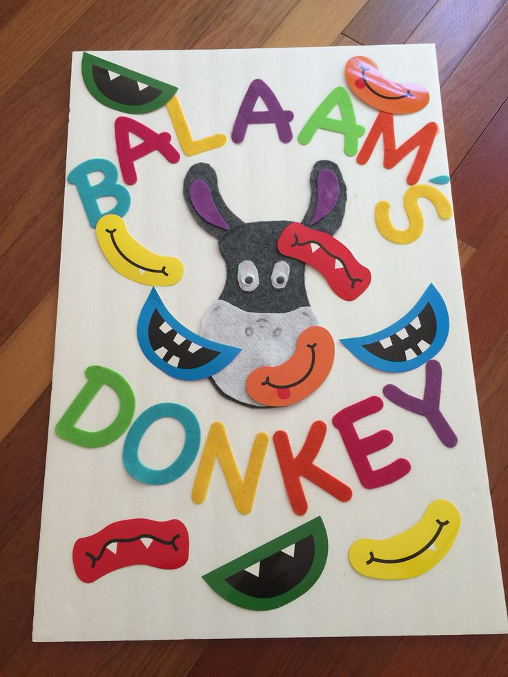 Pin the Mouth on Balaam's Talking Donkey! (no link, picture only)