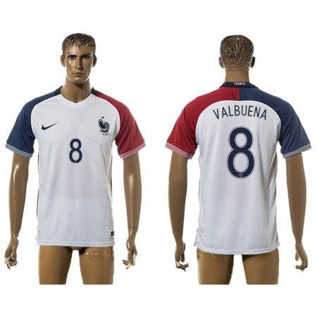 Frankrike 2016 Mathieu Valbuena 8 Borte Drakt Kortermet.  http://www.fotballteam.com/frankrike-2016-mathieu-valbuena-8-borte-drakt-kortermet.  #fotballdrakter