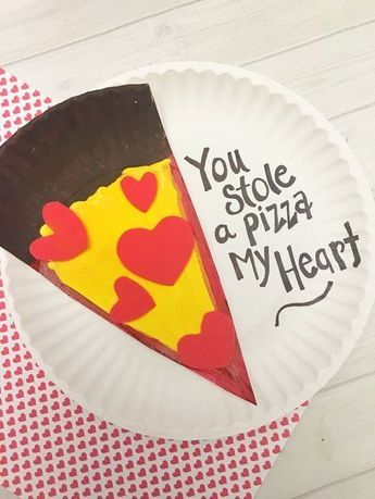 Valentine S Day Pizza Paper Plate Craft For Kids Tutorial School
