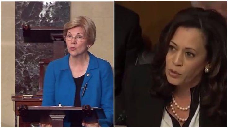 Elizabeth Warren Slams Republicans for Trying To Silence Kamala Harris