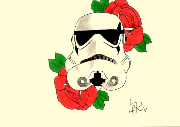 #stormtrooper #oldschool #roses #tattoo #copy #rereading