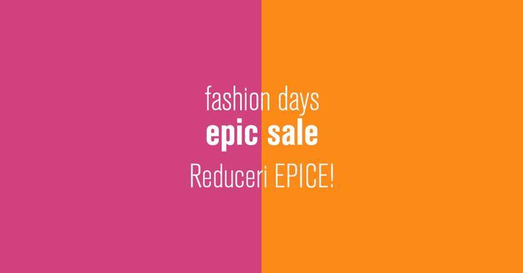Epic Sale la FashionDays de pe 13-15 iunie cu reduceri epice la toate articolele! 👠👗👒👓💼👙 Nu uita de cashback-ul de 4% pe care-l primesti prin Cashback Shopping!!!  #fashiondays #reduceri #epicsale #cashback #baniinapoi #economisestibani #primestibani #cumperionline #vara