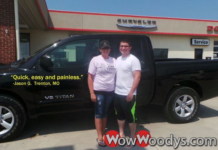 "Jason Golden from Trenton, Missouri purchased this 2010 Nissan Titan and wrote, ""Great help! Quick, easy and painless. Scott had a great personality and was friendly and caring during the entire process."" To view similar vehicles and, go to www.wowwoodys.com today to see customer reviews and more vehicles."