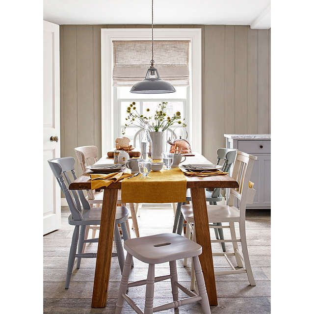BuyJohn Lewis Croft Collection Easy-to-fit Campbell Ceiling Shade, Stone Online at johnlewis.com