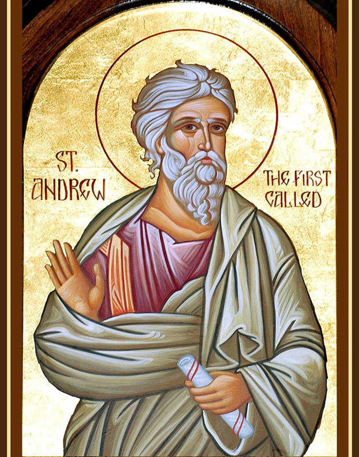 Andrew the Apostle also known as Saint Andrew and called in the Orthodox tradition Prōtoklētos (Πρωτόκλητος) or the First-called, was a Christian Apostle and the brother of Saint Peter. His martyrdom took place during the reign of Nero. Feast: 30 November (In the traditional liturgical books of the Catholic Church, the feast of St. Andrew is the first feast day in the Proper of Saints).