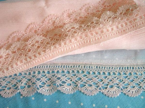 """Igne Oyasi Prayer shawl.  1 or 3 edges of this large """"scarf"""" are adorned with Oya"""