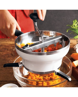 Food mills are perfect for making fresh purees, sauces or soups. Get it here: www.bhg.com/shop/oxo-oxo-food-mill-p50054dfc82a75e55847c19c2.html