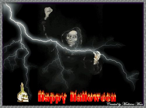 Happy Halloween Witch Animated Scary Graphic.gif (500×