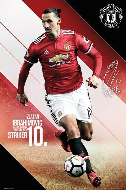 Plakat Manchester United Ibrahimovic 61,5x91 cm. Gdzie kupić? eplakaty.pl