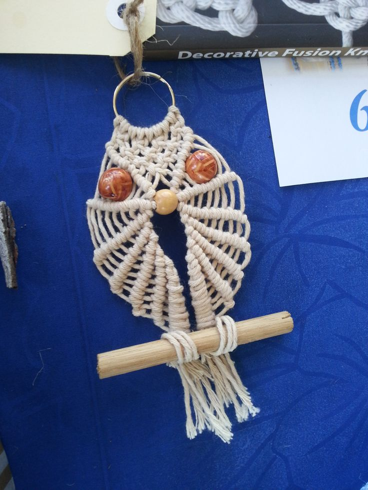 Owl - $9 - rusticblue9@gmail.com or make one from instructions on Youtube @Macrame School