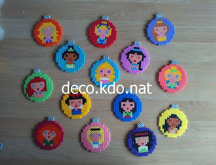 Disney Princess Christmas baubles hama perler beads by Deco.Kdo.Nat