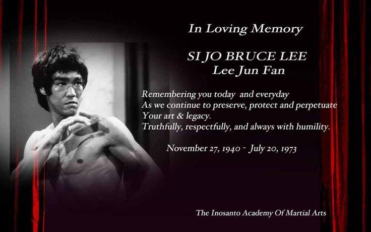 In honor of Bruce Lee. From Guru Dan Inosanto Academy