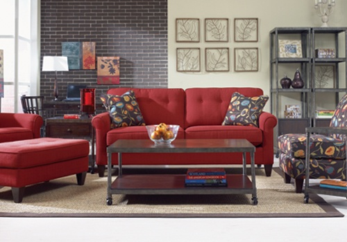 Lazy Boy furniture  Always wanted a red couch!!!!