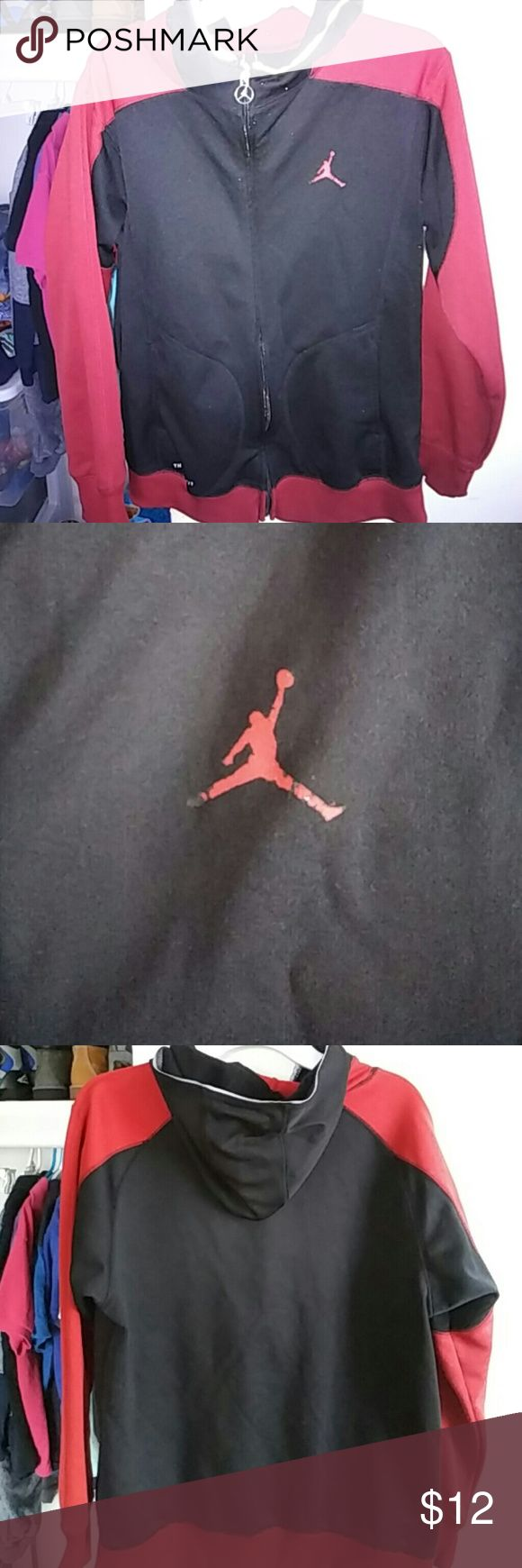 Michael Jordan hoodie Good condition. Jumpman had wash wear pictured Jordan Jackets & Coats