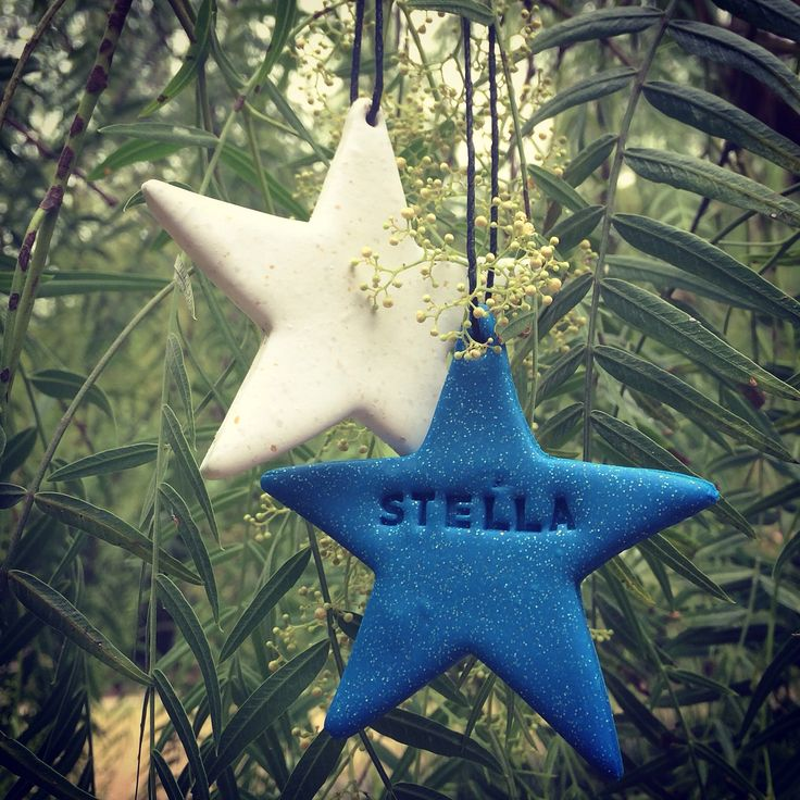 Handmade polymer clay personalised Christmas decorations