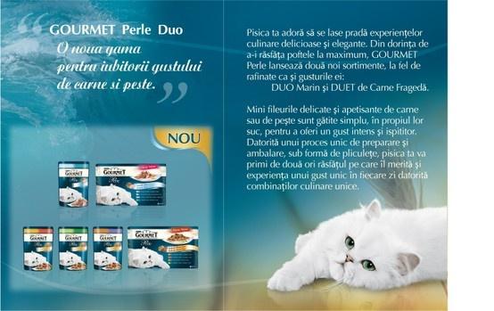 Gourmet Perle Duo, pentru sofisticaţii iubitori ai gustului de carne şi peşte. Adică şi pentru mine.. mmm..