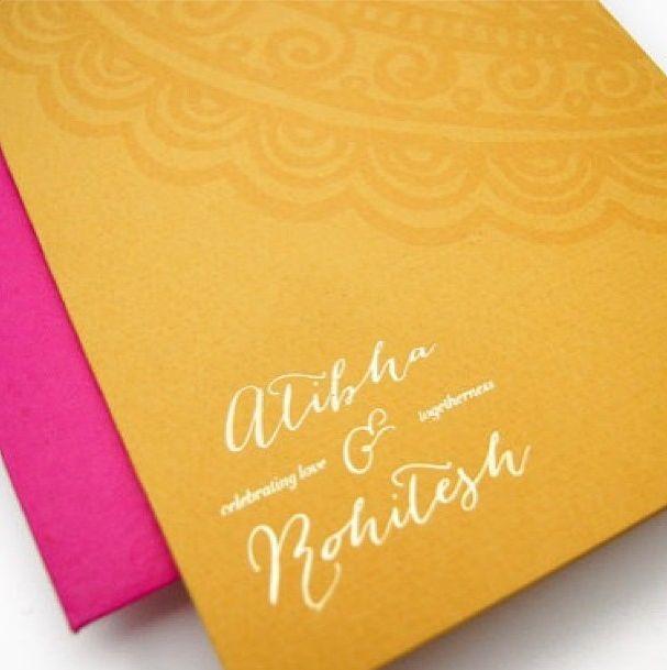 Modern Indian wedding invitation