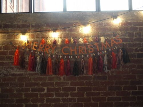 MERRY CHRISTMAS wall display with custom Zuzu decorations  Luxury handmade paper decorations by Paper Street Dolls paperstreetdolls.etsy.com