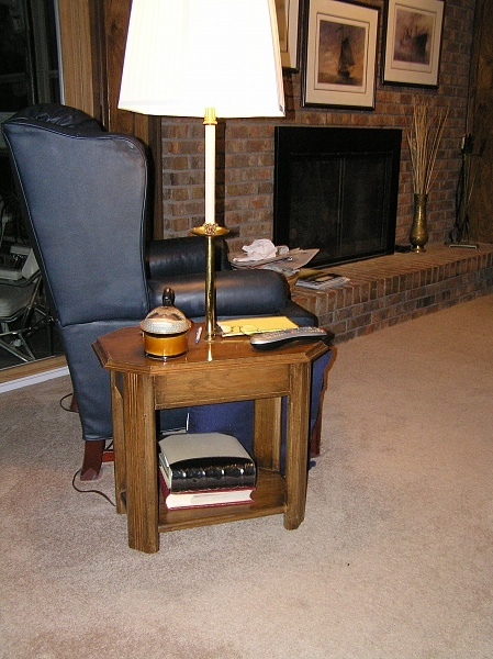 tables with lamps attached home decor pinterest. Black Bedroom Furniture Sets. Home Design Ideas
