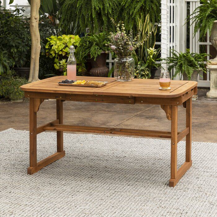 Tim Extendable Wooden Dining Table Wooden Dining Tables Outdoor